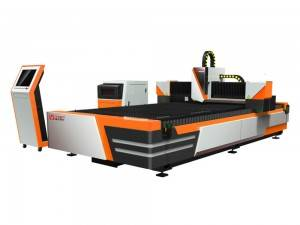Open Type 700W CNC Fiber Laser Cutting Machine for blikk