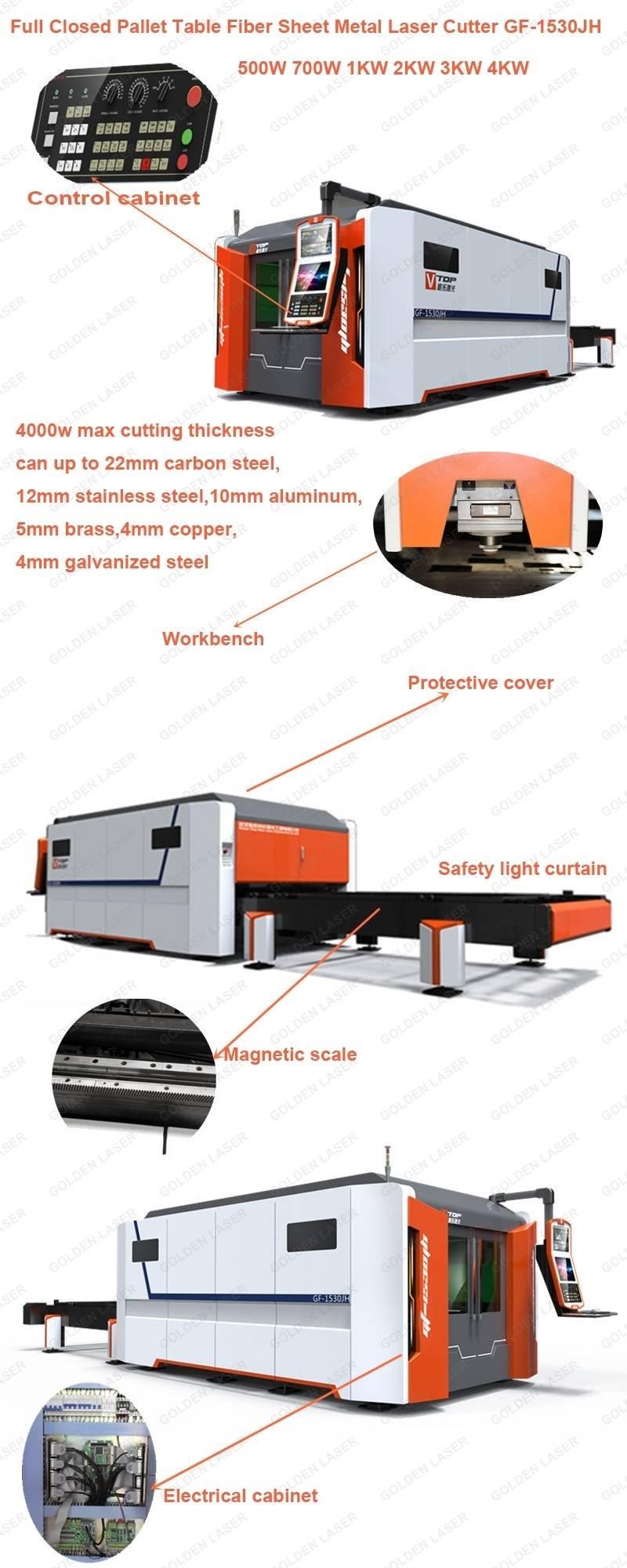 pallet table fiber sheet metal laser cutter GF1530