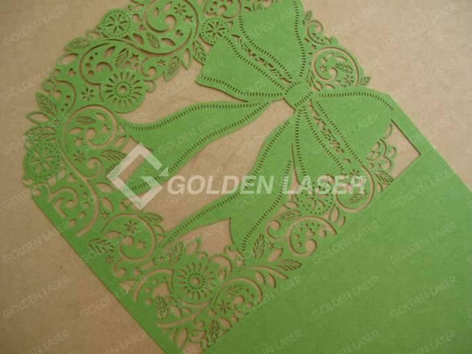 paper wedding invitation cards golden laser With wedding invitation paper cutter