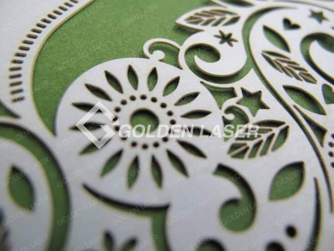 paper wedding invitations cutting with laser