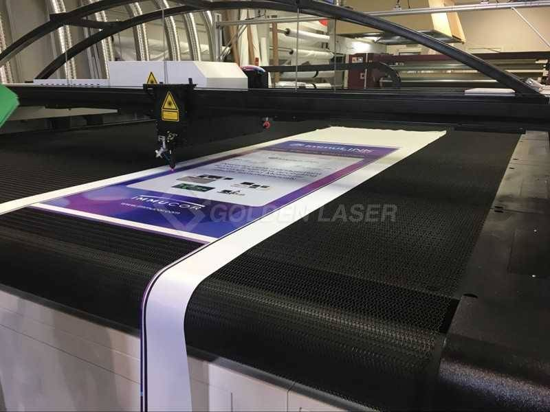 printed banner laser cutting