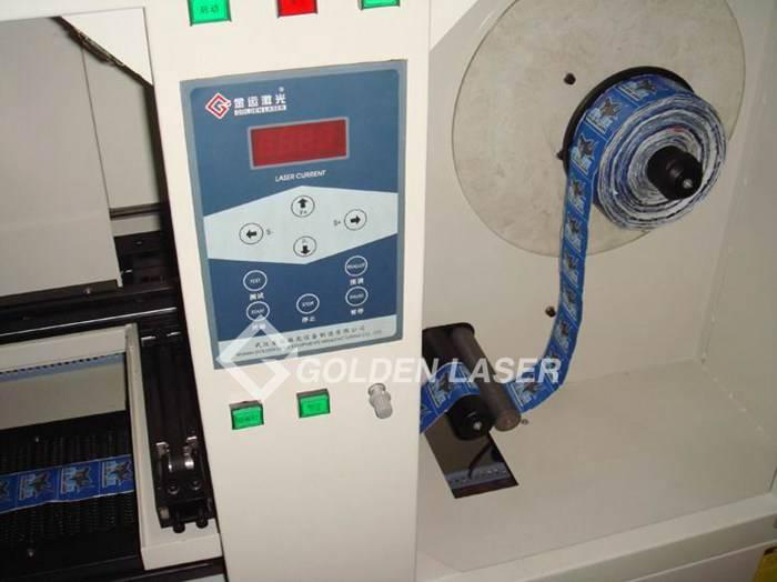 roll feeding label laser cutting