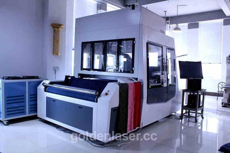 roll to roll denim laser engraving machine