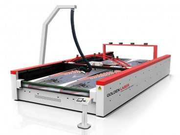 Wide Format Laser Cutting Machine for Flag, Banner, Soft Signage
