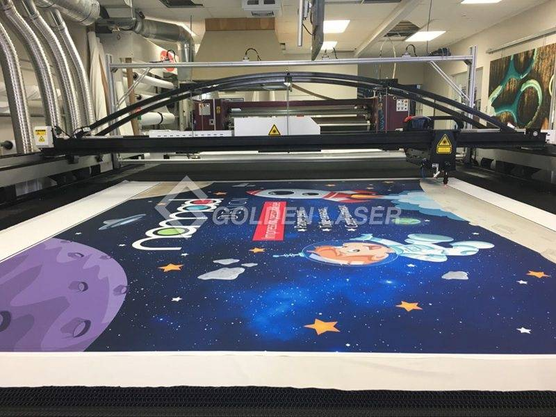 vision laser cutting printed soft signage