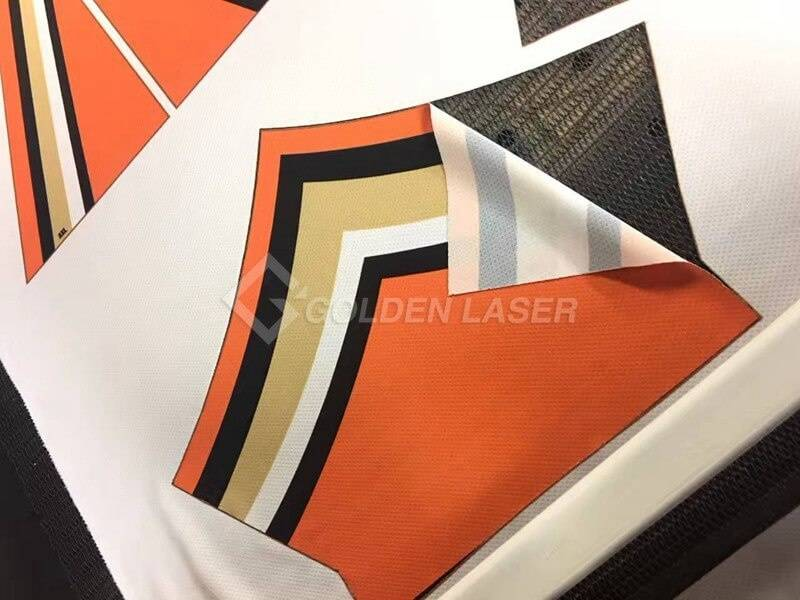 laser cutting sublimation garment