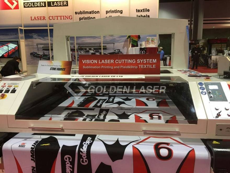 vision laser cutting system for sublimation printing textile