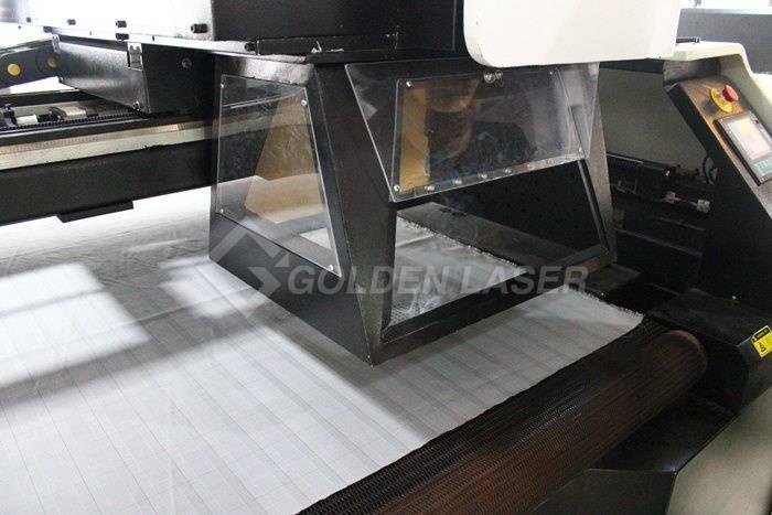 white fabric galvo laser perforation