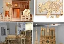 Laser cutting wood, acrylic, cardboard 3D model, looks awesome!